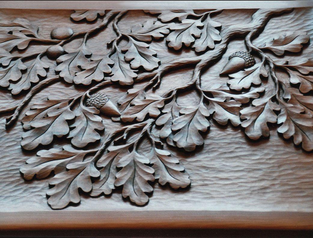 Oak leaf panel leaves