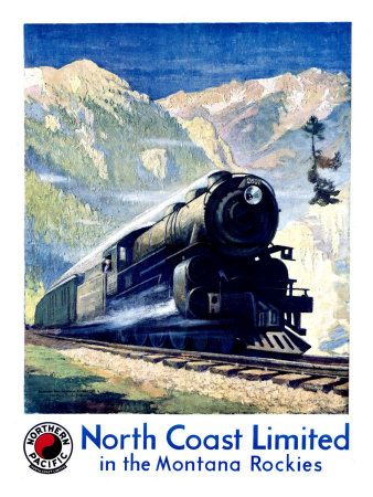 Northern Pacific ~ North Coast Limited in the Montana Rockies
