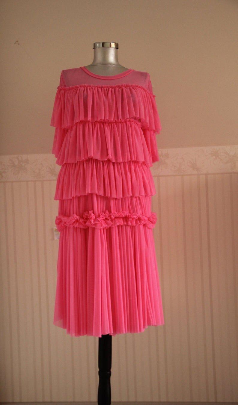 Tulle Dress Soft Tulle Dress Pink Dress Villanelle Dress Etsy Pink Tulle Dress Purple Girls Dress Tulle Dress [ 1347 x 794 Pixel ]