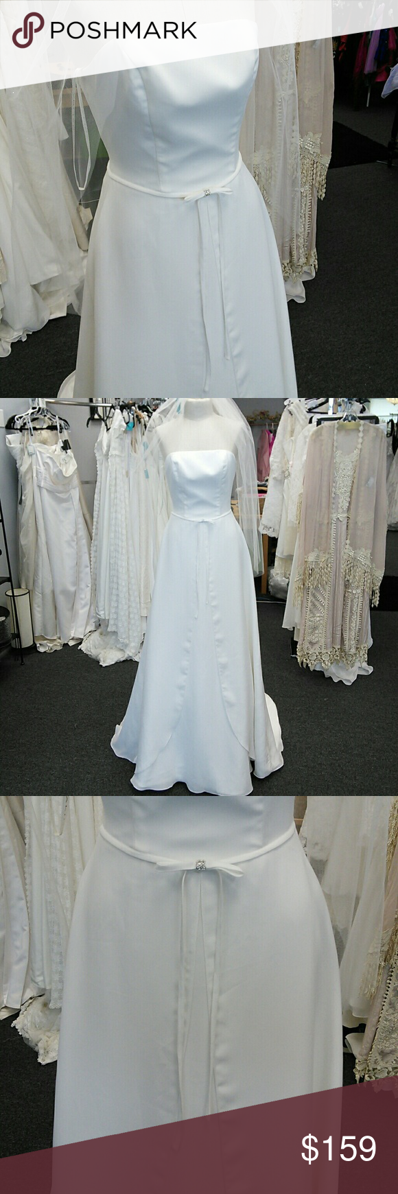 Soft chiffon wedding dress NWT   Chiffon wedding dresses and Wedding ...