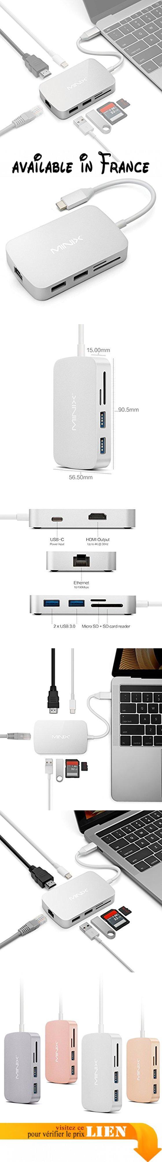 C¢bles MINIX NEO C X 7 en 1 USB Type C vers 2 x USB 3 0 HDMI