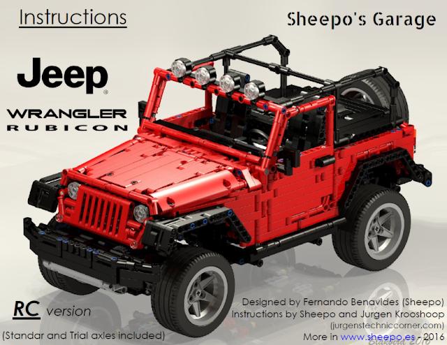 Sheepo S Garage Jeep Wrangler Rubicon Instructions Jeep Wrangler Rubicon Jeep Wrangler Lego Truck