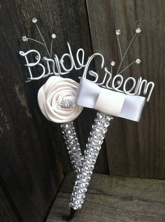 Bling Bride And Groom Guest Book Pen Set By Snootybride On Etsy 35 00