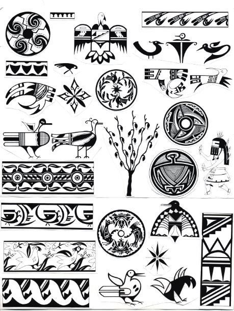 native american pottery paint patterns symbolism. Black Bedroom Furniture Sets. Home Design Ideas