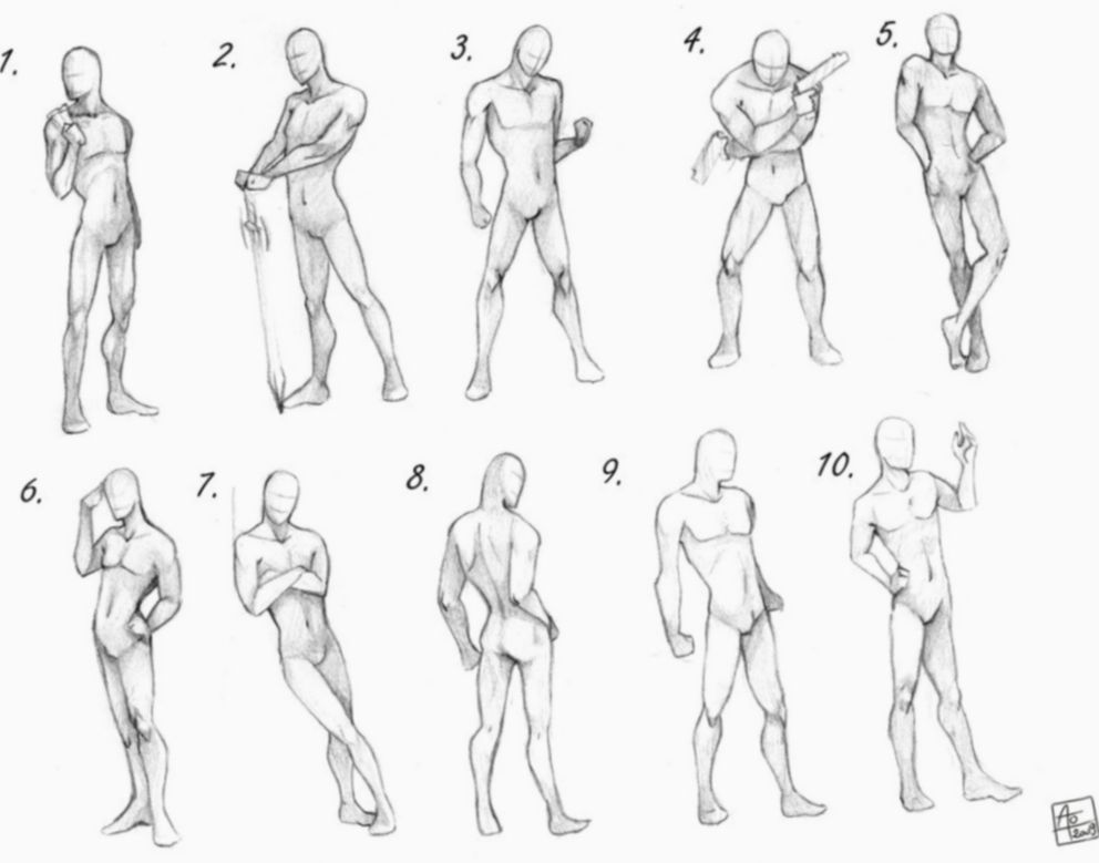 8 Anime Guys Poses Sketches Art Reference Poses Drawing Poses Male Art Poses