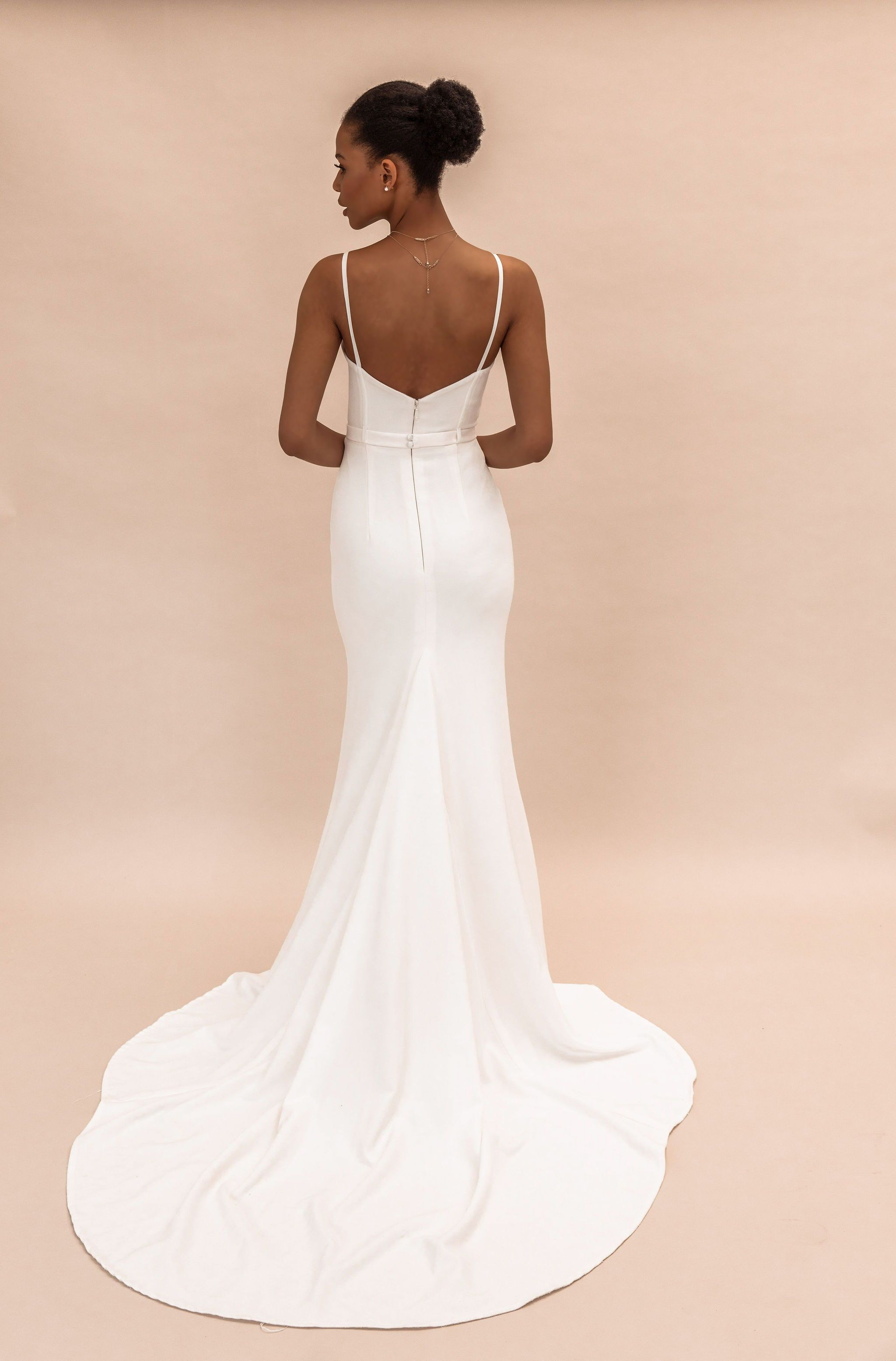 Simple Wedding Dress By Karen Willis Holmes Bridal Simple Gowns Casual Wedding Dress Wedding Dresses Simple [ 3110 x 2048 Pixel ]