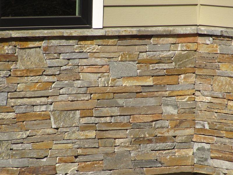 DIY Exterior Stacked Stone Wall Tile Veneer   Http://www.bentleysbandb.