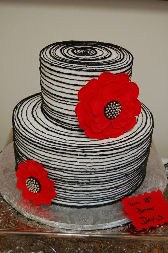 Red White And Black Cake