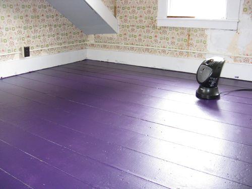 Purple Painted Floor Floors