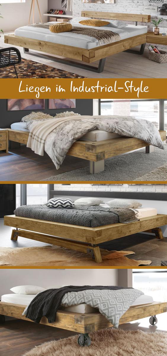 Der Industrial Style Vereint Tolle Holzoptik Mit Metall So Entstehen Hingucker Fur Das Schlafzimmer Entdec Diy Mobel Bett Diy Mobel Holz Rustikale Holzmobel