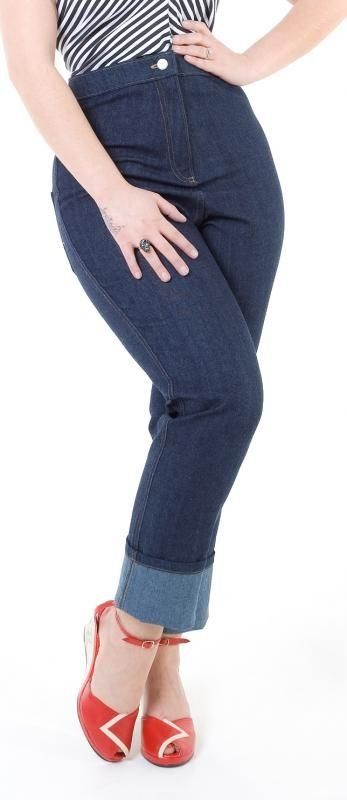 Classic Lady K Loves jeans front view | Vintage inspired