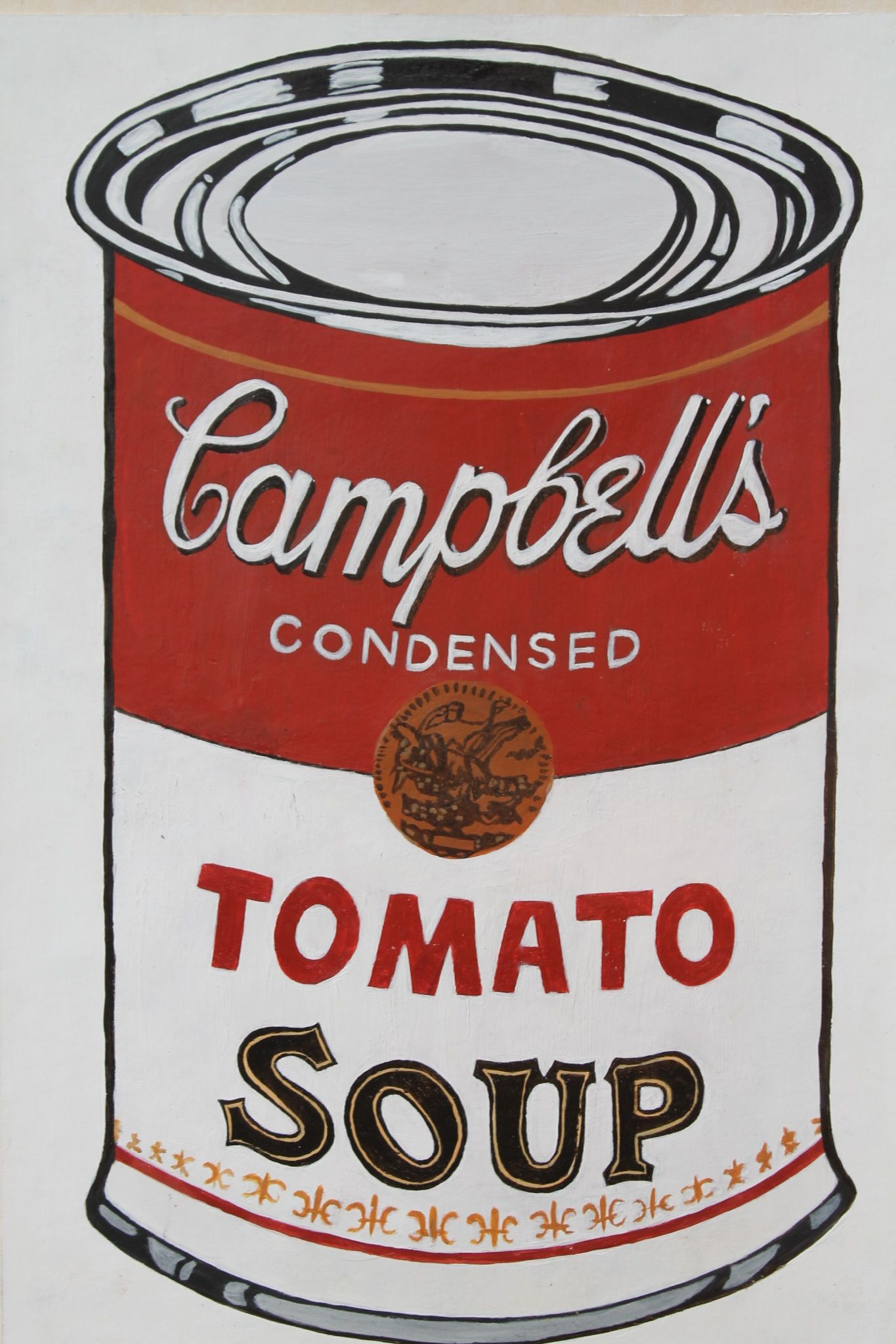 Logan Moffat 15 Pastiche Of Andy Warhol S Campbells Condensed Tomato Soup Can Materials Acrylic Paint Endi Uorhol Hudozhniki Iskusstvo