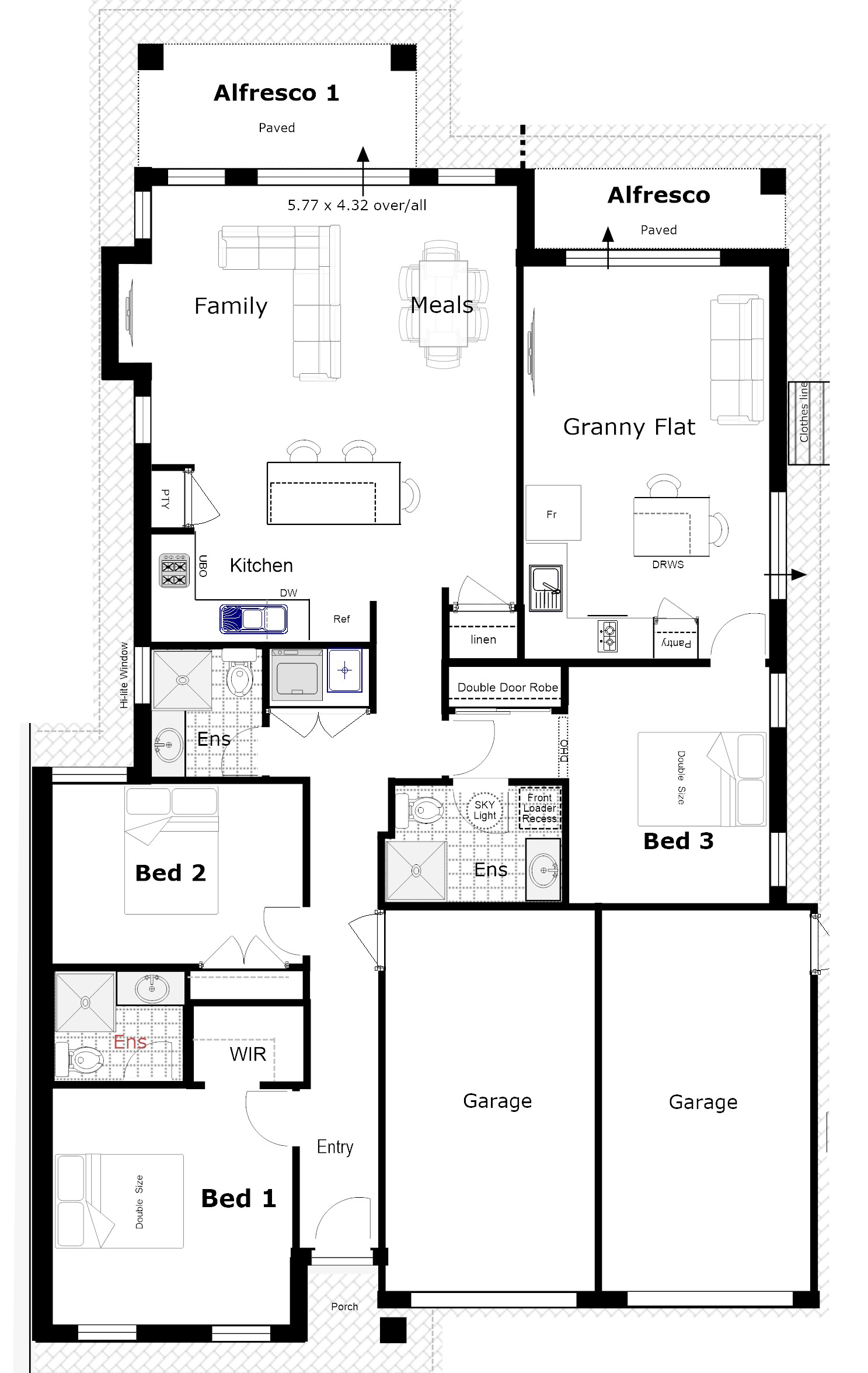 House Plan With Two Kitchens Duplex Floor Plans Bedroom House Plans House Plans