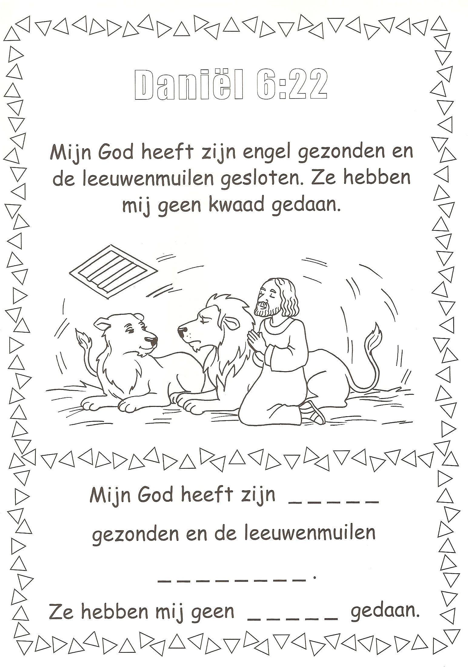 Daniel 6 22 In De Leeuwenkuil Daniel Bijbel Knutselen Bijbel Bijbel Knutselen