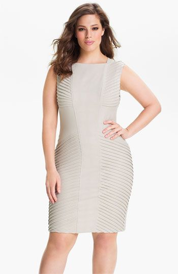 727b88d17e8 Adrianna Papell Sleeveless Tucked Sheath Dress (Plus) available at   Nordstrom