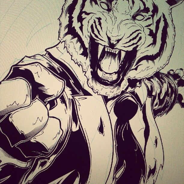 Going a bit overboard here, think its time for a break... #tiger #wip #beertime
