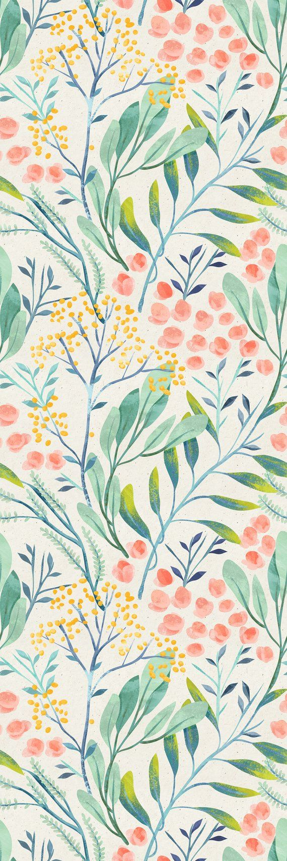 Removable Wallpaper Self Adhesive Wallpaper Watercolor Wild | Etsy