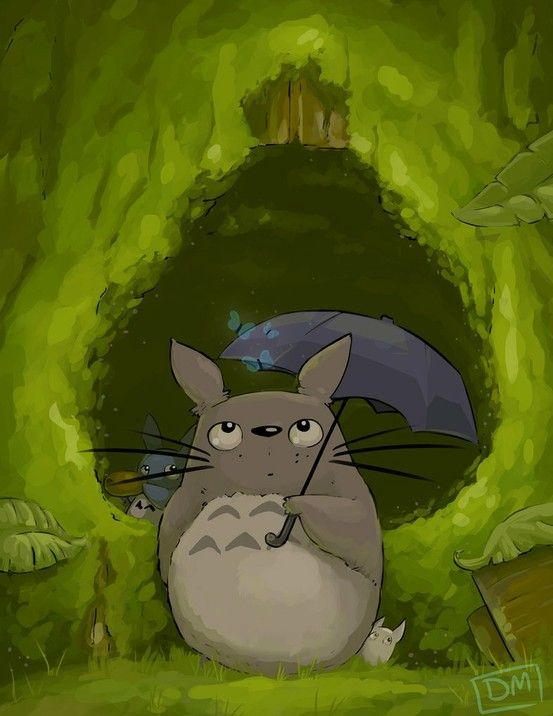 20d14c1a9e254 Totoro I ve always wanted a hideout like totoro s!!   Totoro   Pinterest