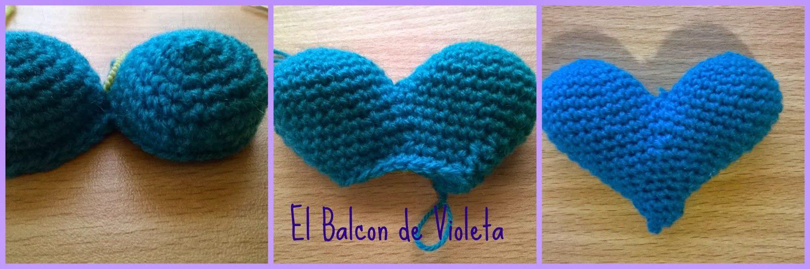 Como tejer paso a paso un corazon relleno al crochet...Patrones ...