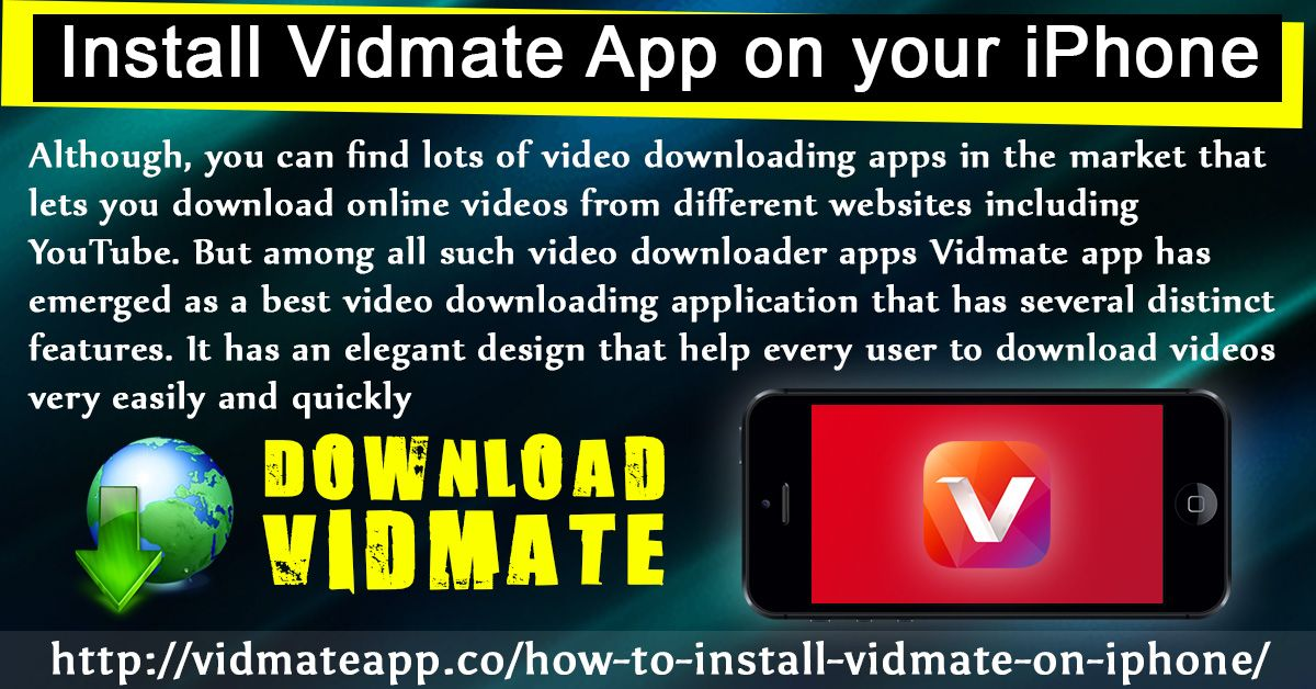 The Vidmate app is popular for its feature apart from
