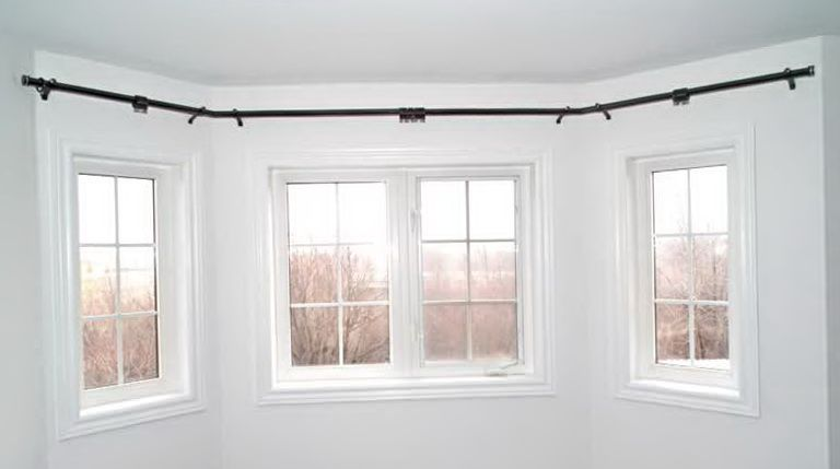 Curved Curtain Rod For Bow Window Bay Window Curtains Bay