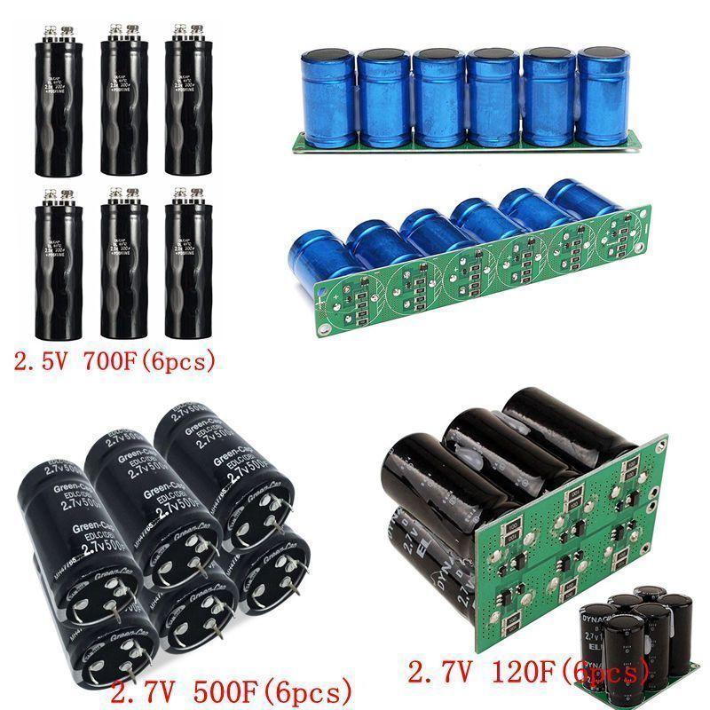 1 2 6pcs Super Capacitor 2 5v 2 7v 120f 500f 700f Ultra Capacitor Farad Hot Capacitors Alternative Energy Hot