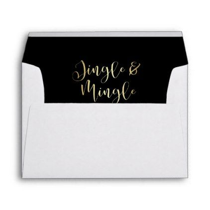 Elegant Corporate Jingle  Mingle Party Envelope  Script Gifts