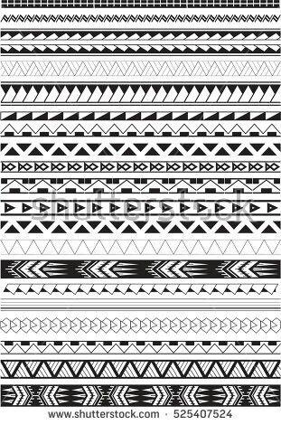 Polynesian Maori Desenhos De Tatuagem Maori E Bracelete Maori