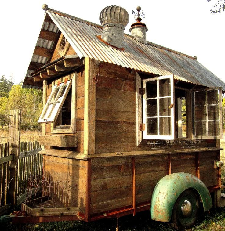 Best idea ever: old truck trailer/mobile garden shed. Just because