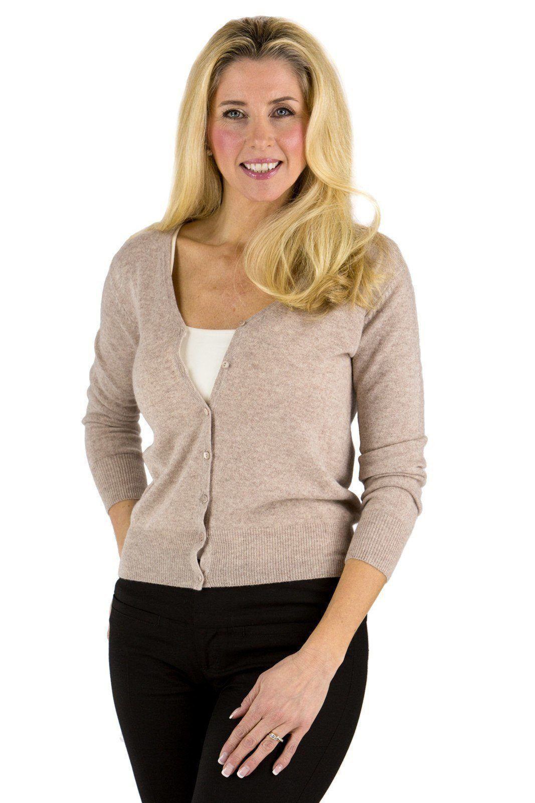 Women's 100% Cashmere Cardigan Sweater | Products | Pinterest ...