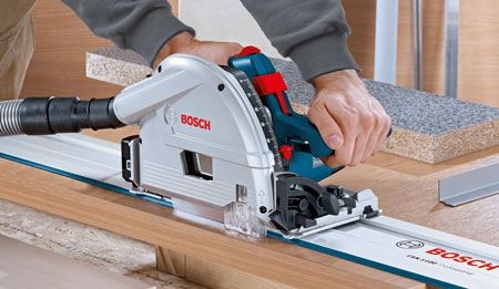 Bosch Gkt 55 Gce Professional Plunge Track Saw With Guide Rail Bosch Tools Bosch Tools