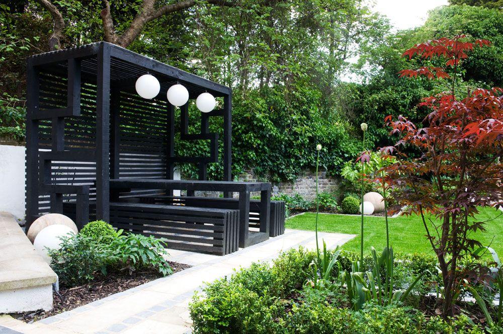 Modern japanese pergola japanese garden pinterest for Japanese wooden garden structures