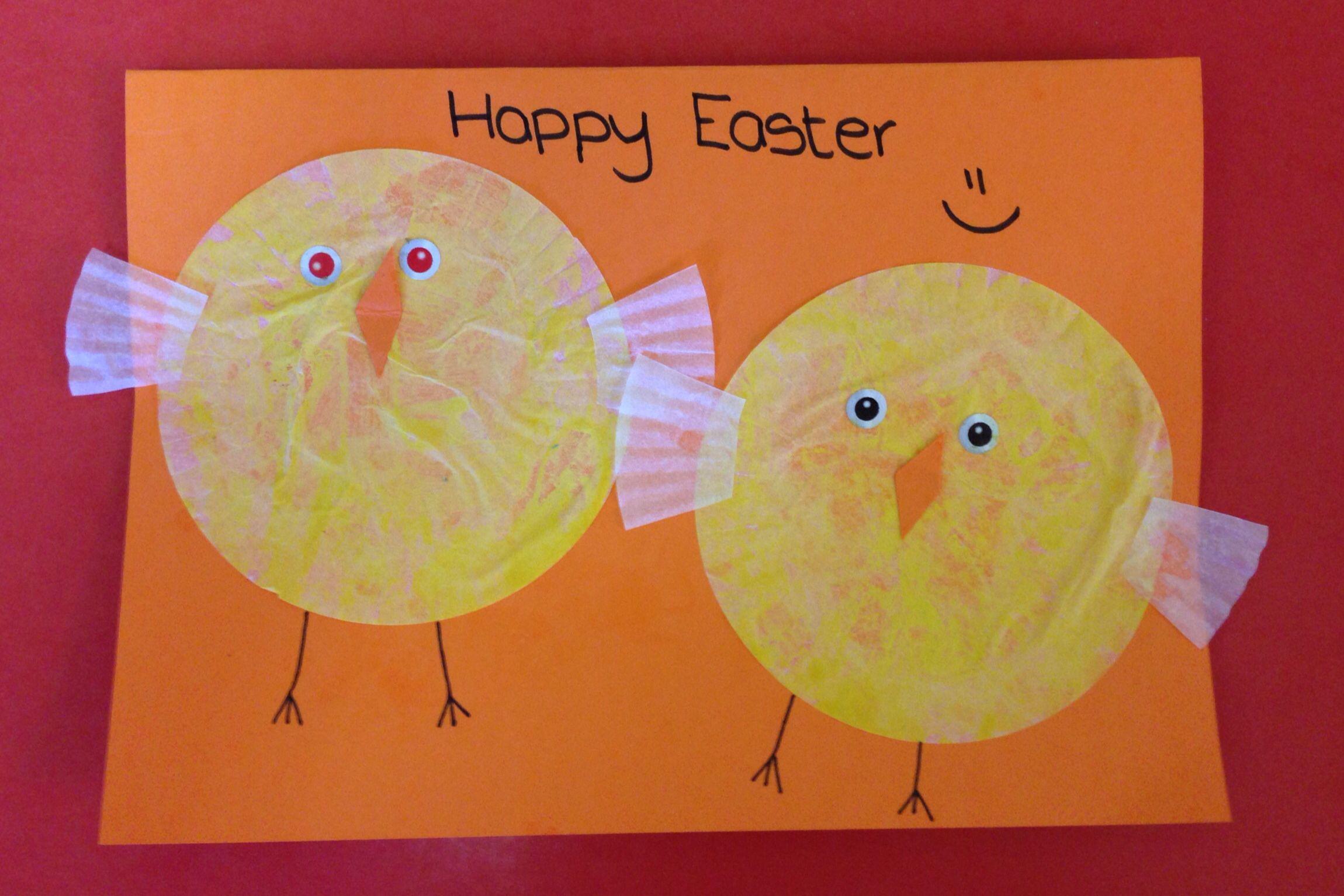 Montessori Preschool Easter Card The Children Painted Bun