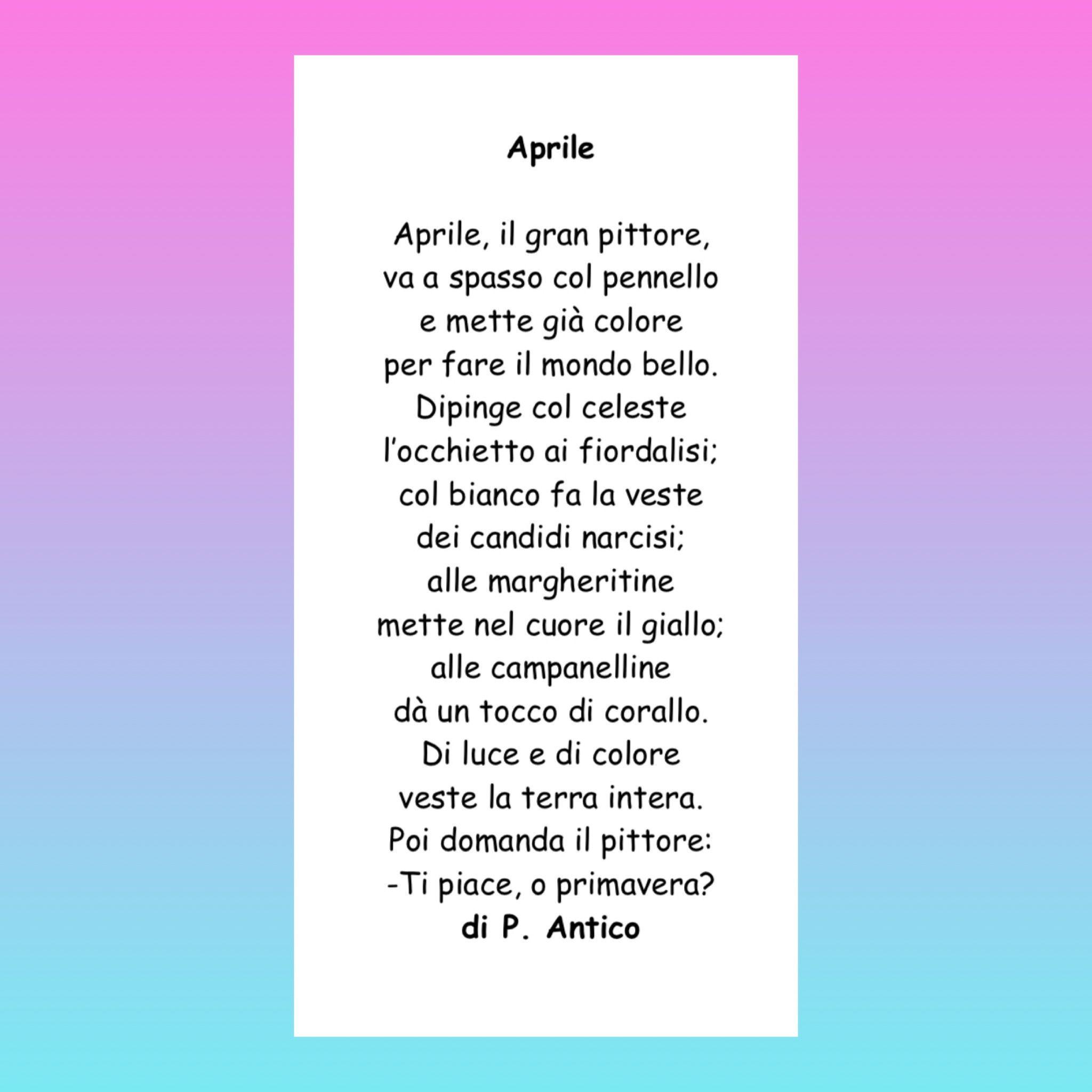Raccolta Di Poesie Sulla Primavera Classe 2a Primavera Poesia E