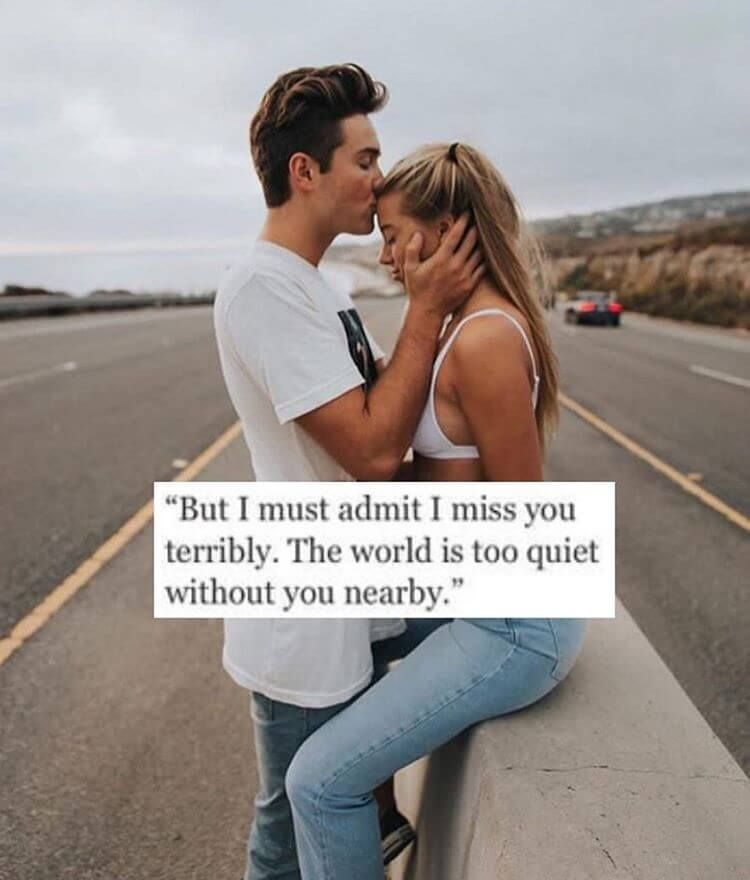 I Miss You So Much One Liner Quote | Cute Love Quotes for