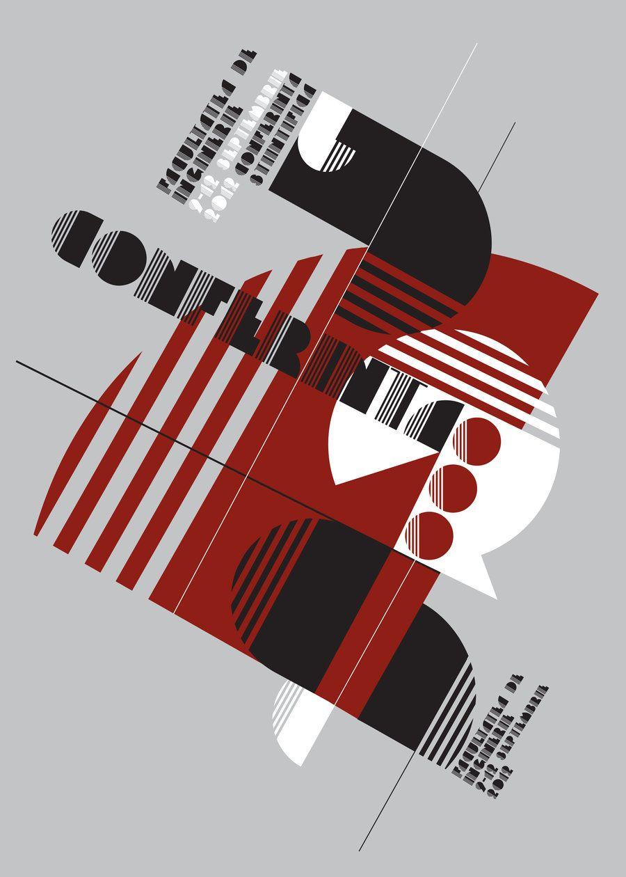 poster bauhaus typo constructivism by cipgraph.deviantart