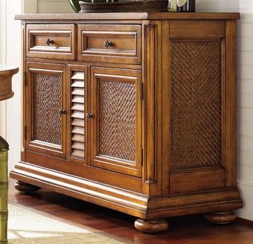 "Antigua Server - traditional - Buffets And Sideboards - ivgStores Width 54""  Depth 21""  Height 38"""