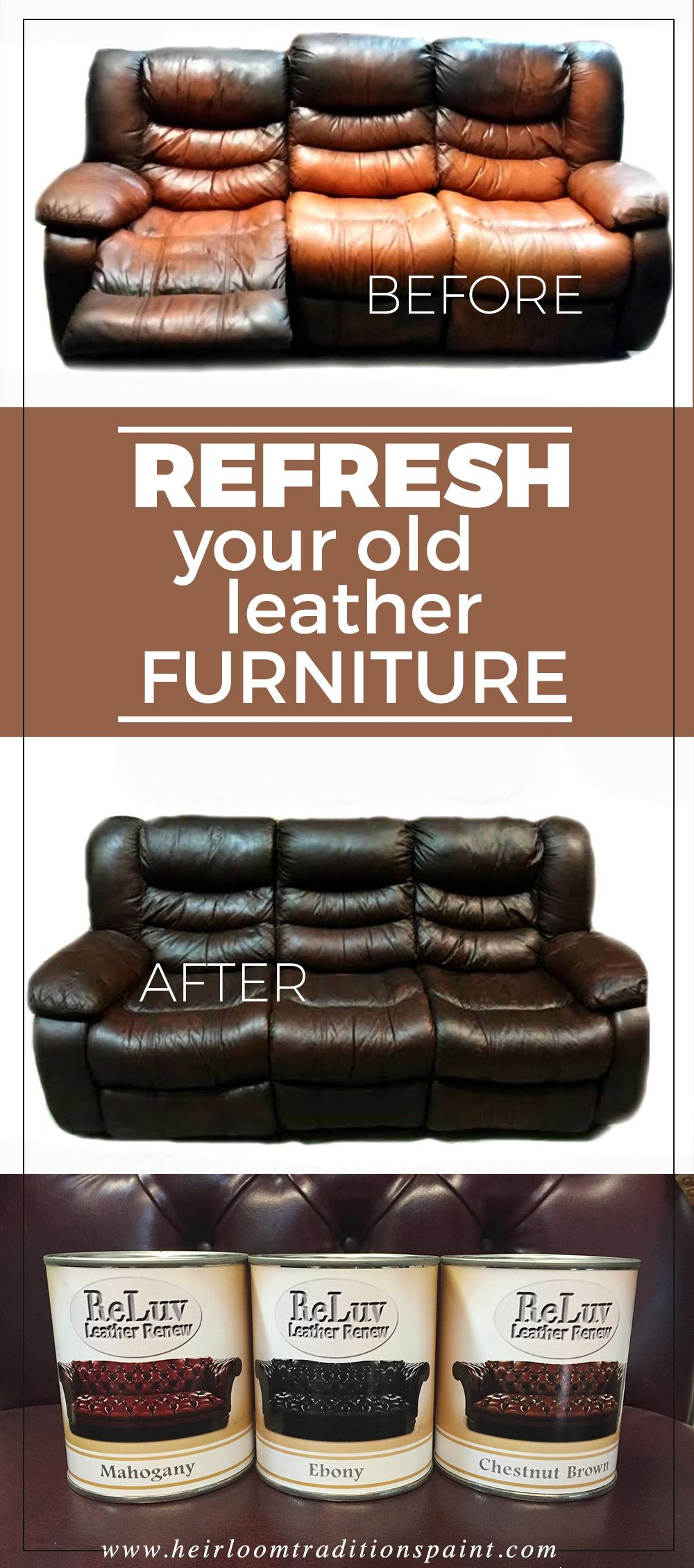 Delightful Bring New Life To Your Old Stained And Faded Leather With ReLuv Leather  Renew By Heirloom