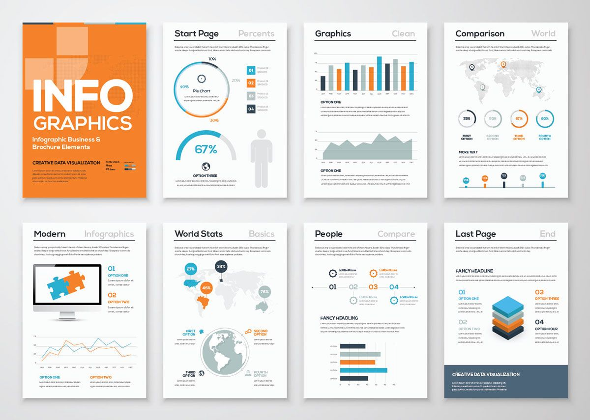 Free Infographic Brochure Template | AI on Behance | Design ...