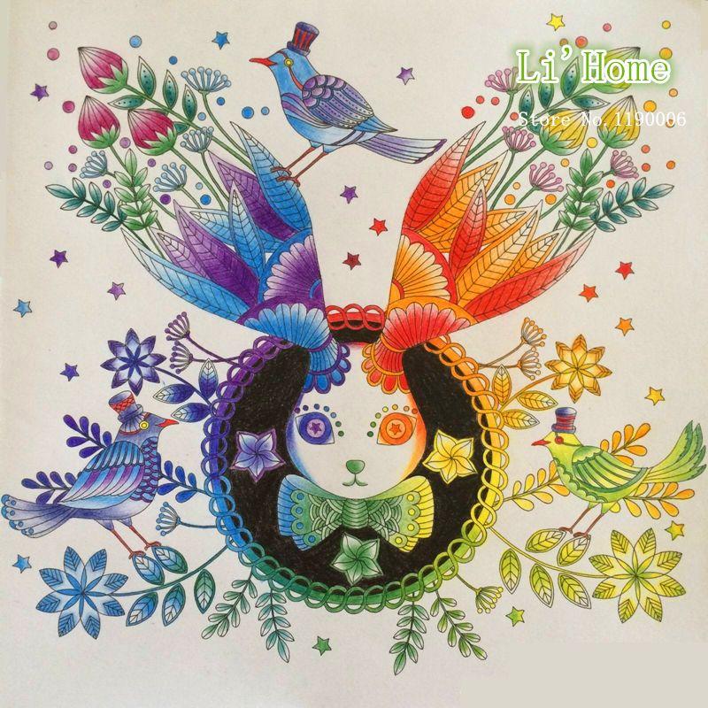 Fantasy Dream Secret Garden Hunt Font B Coloring