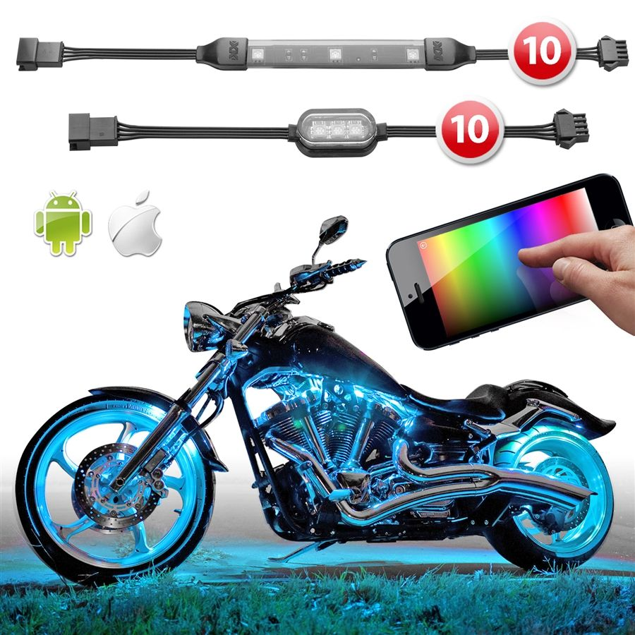 Led Light Strips For Motorcycles Premium 10 Strip 10 Pod Ios Android App Wifi Control Led Motorcycle