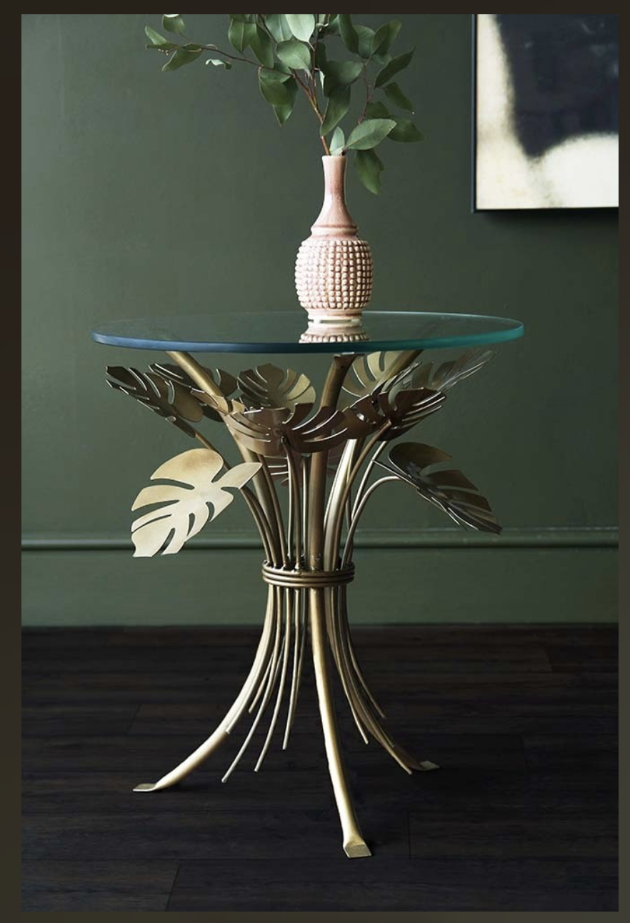 Rockett St George Palm Leaves Table Tropical Coffee Tables
