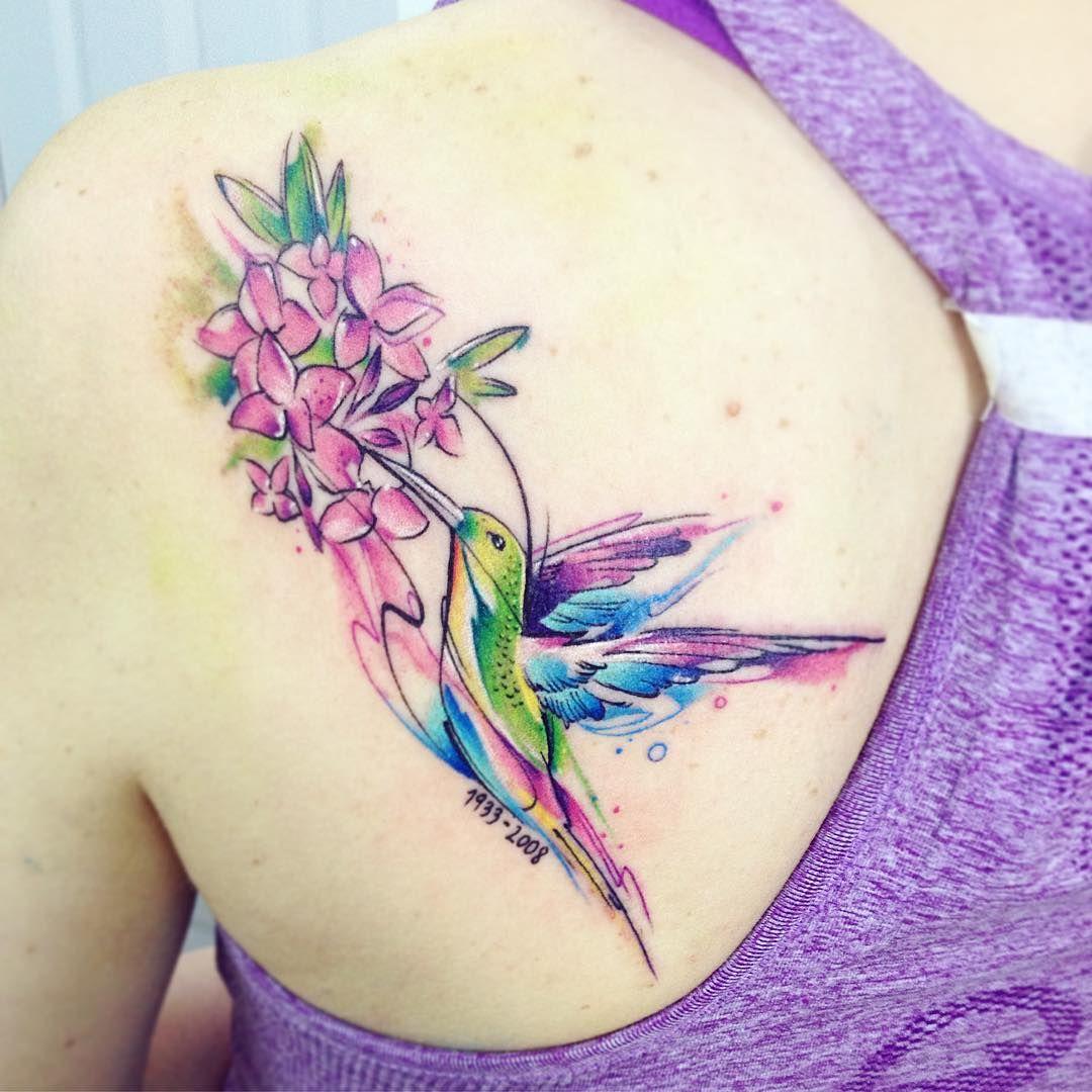 De colibri en la espalda significado tatuaje colibri tatuaje tattoo - Colib Ab Tattoo Tatuaje Bird Ave Colibri Picaflor Ab