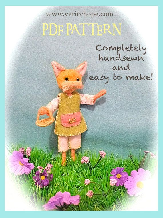 pdf felt mouse doll sewing pattern