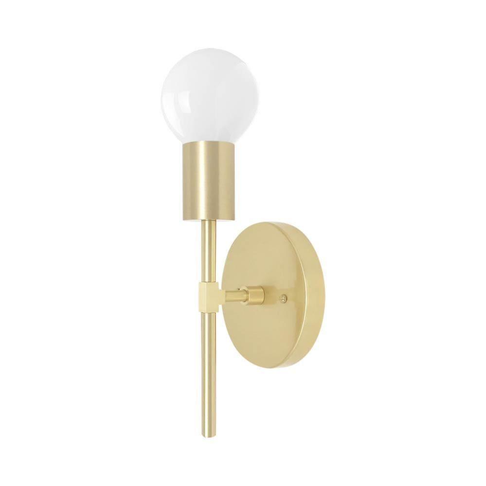 1 Light Sicle Modern Wall Sconce Lighting Brass In 2020 Sconces Modern Wall Sconces Wall Sconce Lighting