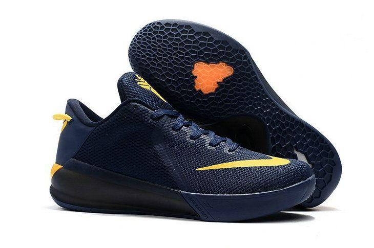 46d4da53d7e9 2017 2018 Daily Nike Kobe Venomenon 6 Navy Blue Yellow Basketball Shoe For  Sale
