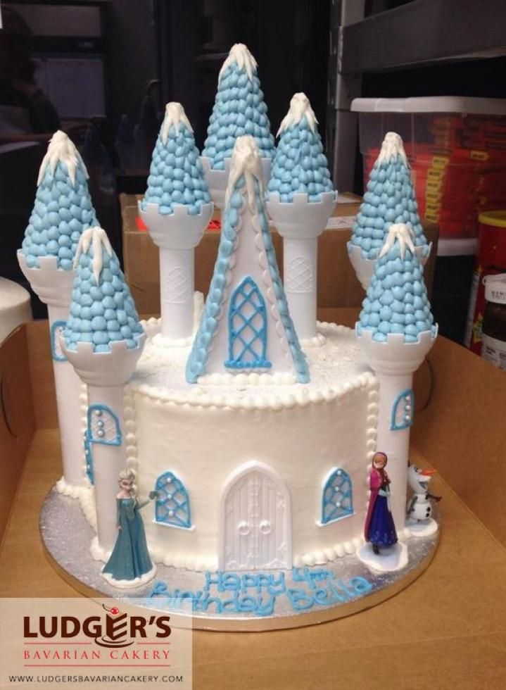 Surprising Frozen Castle Cake Made Using The Wilton Castle Kit And Frozen Funny Birthday Cards Online Inifodamsfinfo