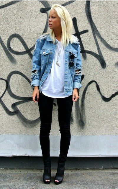 ragged denim jacket