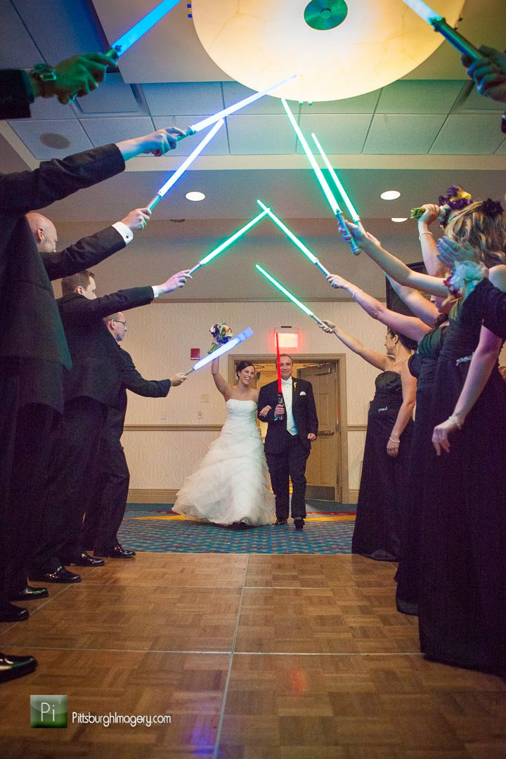 Star Wars lightsaber wedding entrance, you can be sure this will ...
