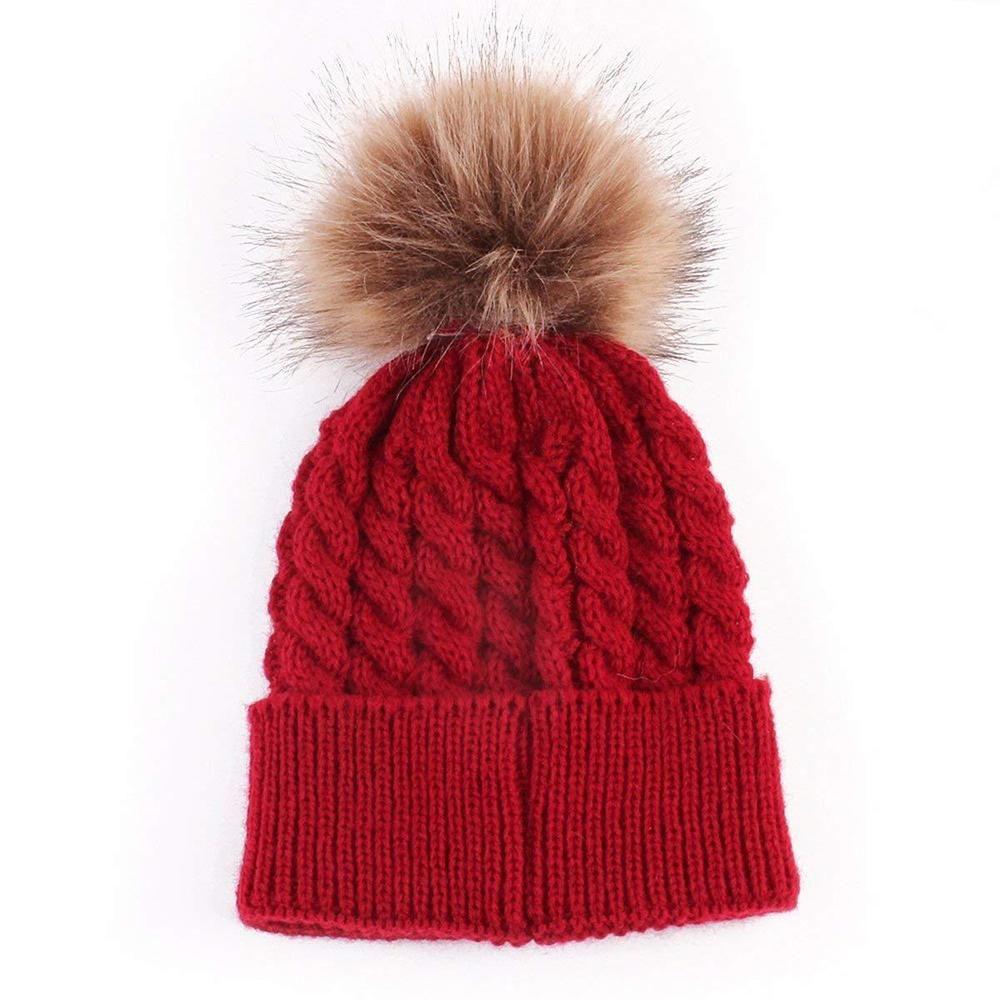 e5dd1ccc5 oenbopo Baby Winter Warm Knit Hat Infant Toddler Kid Crochet ...